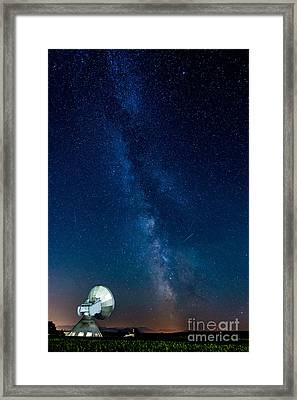 A Magical Night At The Earth Station Framed Print