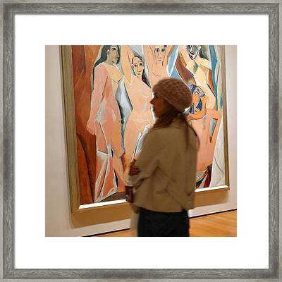 A Maid And Les Demoiselles D'avignon Framed Print by Frank Winters