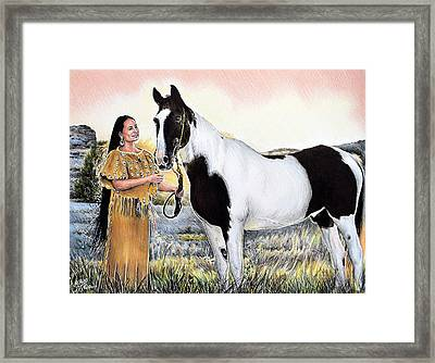 A Maiden And Spot A Special Bond Framed Print by Andrew Read