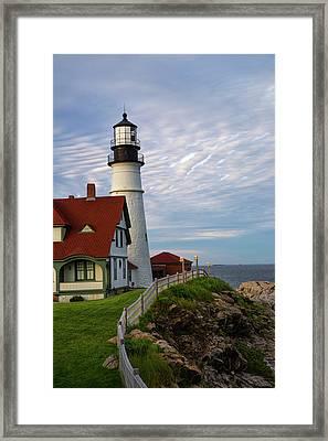 A Maines Light Framed Print by Karol Livote