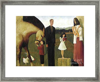 Framed Print featuring the painting A Man About A Horse by Glenn Quist