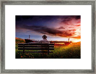 A Man And His Hat Framed Print by Bob Orsillo