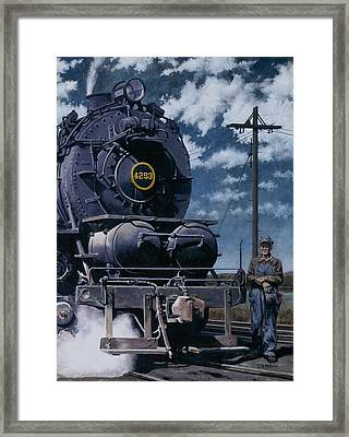 A Man And His Machine Framed Print