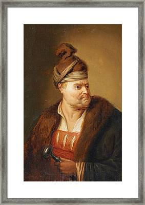 A Man In Oriental Costume Framed Print