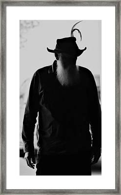 A Man Of Few Words Framed Print
