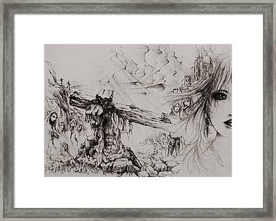 A Man Of Sorrows Framed Print by Rachel Christine Nowicki