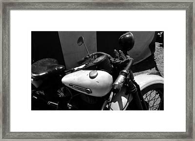 A Mans Harley Framed Print by David Lee Thompson