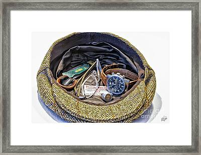 Framed Print featuring the photograph A Man's Items by Walt Foegelle
