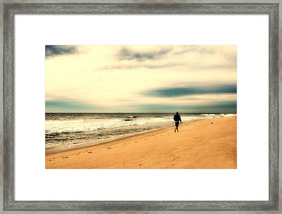 A Man's Serenity - Jersey Shore Framed Print