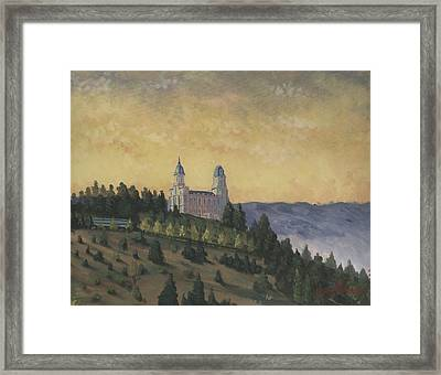 A Manti  Morning Framed Print