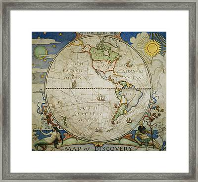 A Map Of The Western Framed Print
