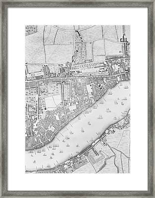 A Map Of Wapping Framed Print