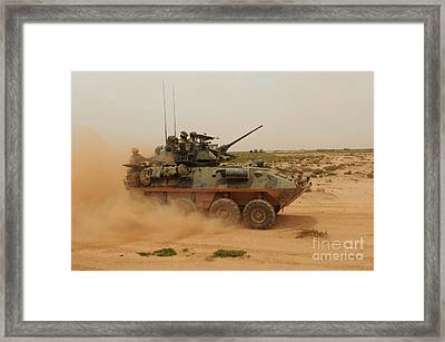 A Marine Corps Light Armored Vehicle Framed Print