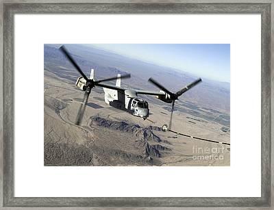 A Marine Corps Mv-22 Osprey Prepares Framed Print