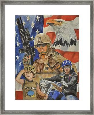 A Marine's Marine Framed Print by Ken Pridgeon