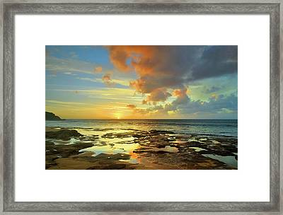 Framed Print featuring the photograph A Marmalade Sky In Molokai by Tara Turner