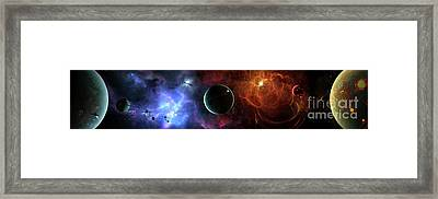 A Massive And Crowded Universe Framed Print by Brian Christensen