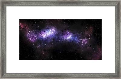 A Massive Nebula Covers A Huge Region Framed Print by Justin Kelly
