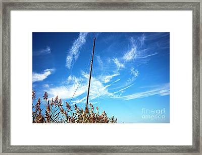 Framed Print featuring the photograph A Mast Appears by John Rizzuto