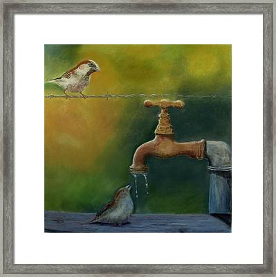 A Matter Of Watter Framed Print