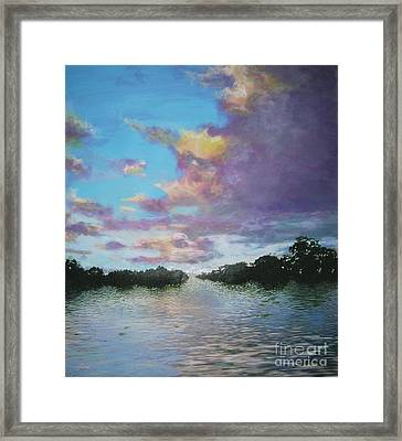 A Mauve Day Framed Print by Marie-Line Vasseur