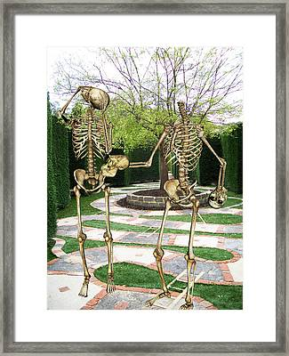 A Mazing Exchange Framed Print by Tammera Malicki-Wong