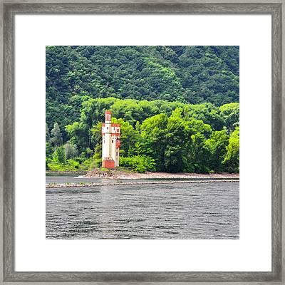 A Medieval Castle On The Rhine Framed Print