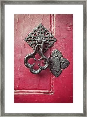 A Medieval Door Knocker Framed Print