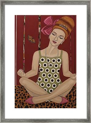 A Meditation Framed Print by Stephanie Cohen