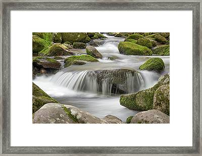 A Meditative Flow Framed Print