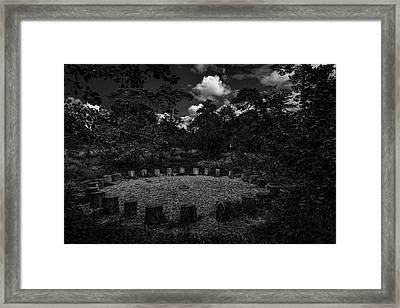 A Meeting Place. A Clearing In The Wild Woods. A Black And White Fine Art Photographic Print Framed Print