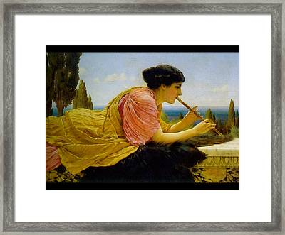 A Melody  Framed Print by John William Godward