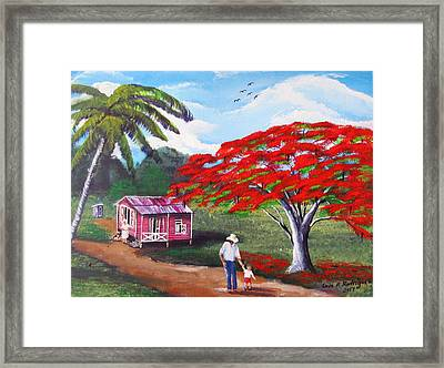 A Memorable Walk Framed Print
