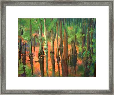Framed Print featuring the painting A Memory For Jennifer by AnnE Dentler