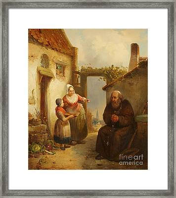 A Mendicant Monk Framed Print by MotionAge Designs