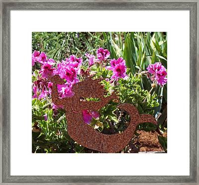 A Mermaid In My Garden Nb Framed Print