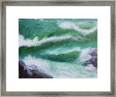 Framed Print featuring the painting A Mermaid by Trilby Cole