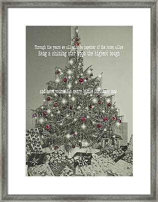 A Merry Little Christmas Quote Framed Print by JAMART Photography