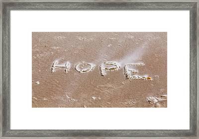A Message On The Beach Framed Print by John M Bailey