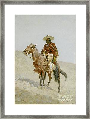 A Mexican Vaquero Framed Print by Frederic Remington