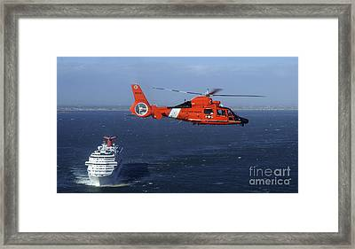 A Mh-65c Dolphin Helicopter Framed Print by Stocktrek Images