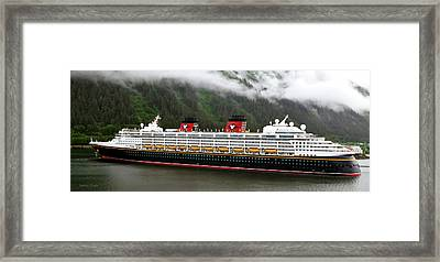 A Mickey Mouse Cruise Ship Framed Print