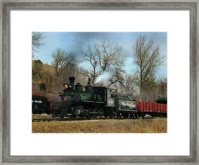 A Mid Day Run Framed Print by Ken Smith