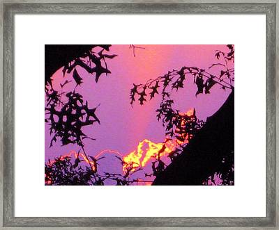Framed Print featuring the photograph A Mid-summer Sunset by Susan Carella