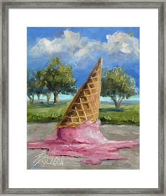 Framed Print featuring the painting A Mid Summer Tragedy by Billie Colson