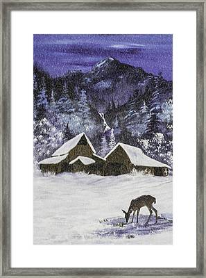 A Midnight Clear A Variation Framed Print by Diane Schuster