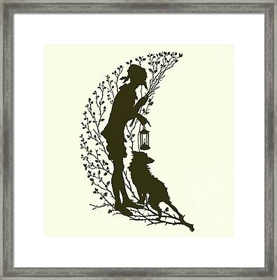 A Midsummer Night's Dream, Silhouette  Framed Print by Paul Konewka