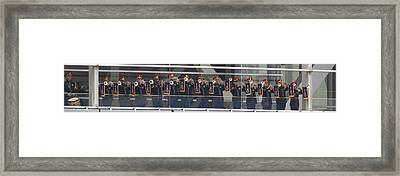 A Military Band Of Trumpeters Performs Framed Print by Panoramic Images