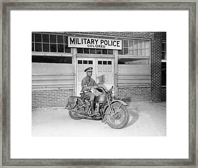 A Military Police Officer Posed Framed Print by Everett
