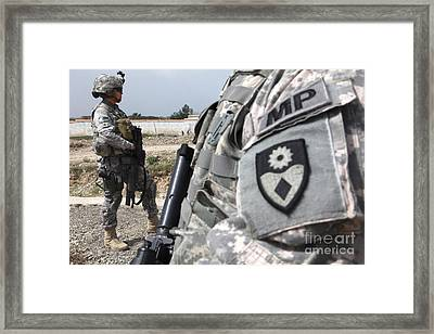 A Military Police Officer Provides Framed Print
